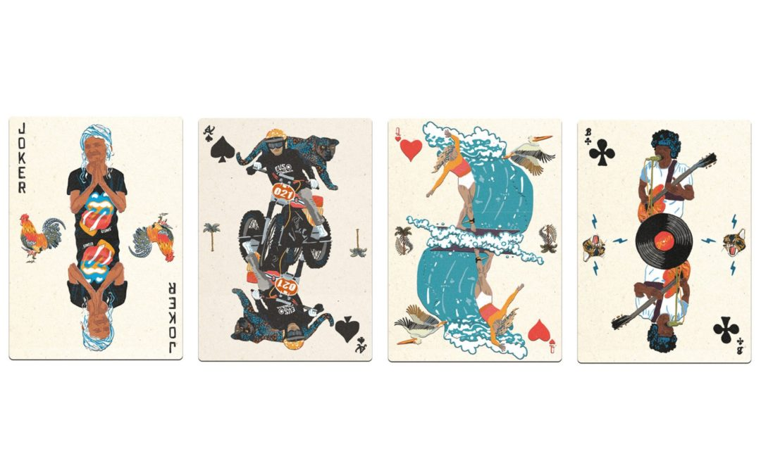 Bali playing cards to Fight the plastic problem